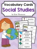Editable Vocabulary Cards ~ Social Studies