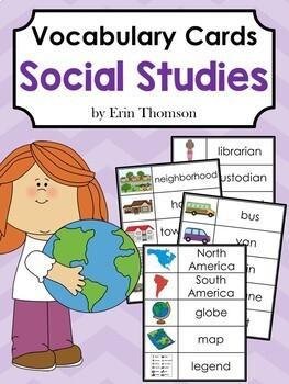 Vocabulary Cards: Social Studies