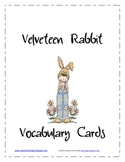 Vocabulary Cards: The Velveteen Rabbit