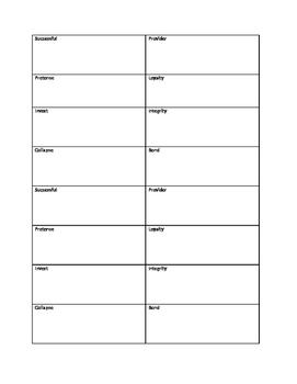 Vocabulary Cards Unit 7, Cluster 1 Blue Edge