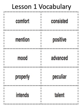 Vocabulary Cards for 4th Grade Journeys Reading Program