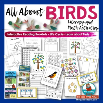 All About Birds   Primary Readers and Writers   [Literacy-Science-Math]