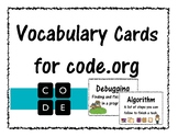 Vocabulary Cards for Code.org