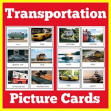 ESL Vocabulary Cards for English Learners | Transportation