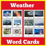 Weather Word Cards and Pictures