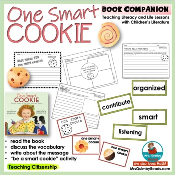 One Smart Cookie   Reader Response Pages   [Vocabulary Cards] Teach Citizenship