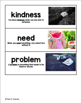 Vocabulary Cards for Reach for Reading - 3rd Grade (Unit 1)