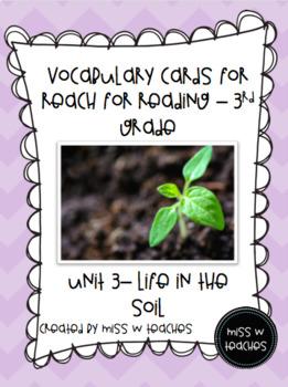 Vocabulary Cards for Reach for Reading - 3rd Grade (Unit 3)