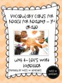 Vocabulary Cards for Reach for Reading - 3rd Grade (Unit 4)