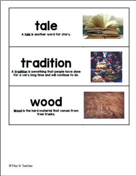Vocabulary Cards for Reach for Reading - 3rd Grade (Unit 6)