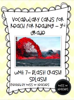 Vocabulary Cards for Reach for Reading - 3rd Grade (Unit 7)