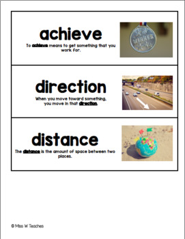 Vocabulary Cards for Reach for Reading - Grade 3 (Unit 8)