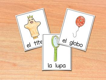 Vocabulary Cards for Spanish Consonants ~ Banco de Palabras - Consonantes