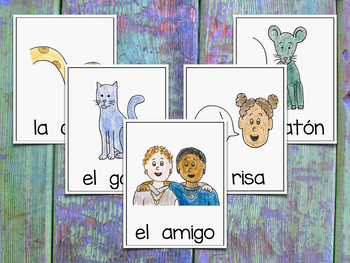 Vocabulary Cards for Spanish Syllables - CGR ~ Banco de Palabras - Sílabas