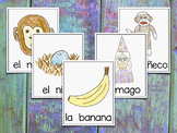 Vocabulary Cards for Spanish Syllables - MNÑ ~ Banco de Palabras - Sílabas
