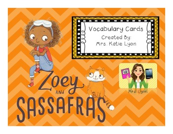 Vocabulary Cards for Zoey & Sassafras - Book 1