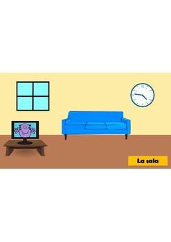 Spanish Family Members and House Rooms (vocabulario en espanol)