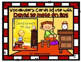 Vocabulary Cards to use with David se mete en lios by Davi