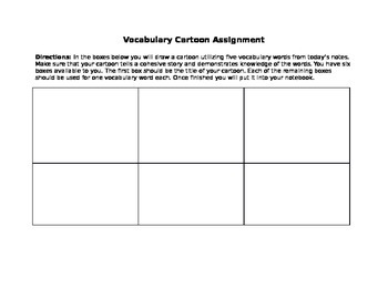 Vocabulary Cartoon Assignment