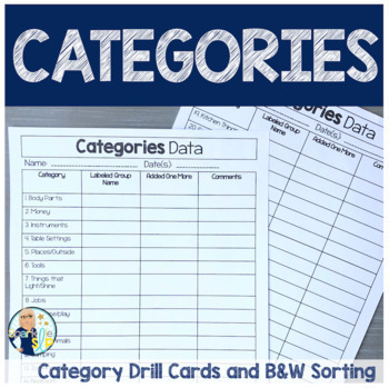 Category Drill Cards | Vocabulary | Label Sort Classify & Define Speech Therapy