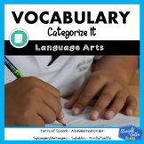 Vocabulary Categorizing Activities