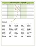 Vocabulary Categorizing Words Handout - Exercise B