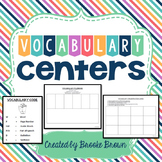 Vocabulary Center Options for Grades 2-4 {EDITABLE}