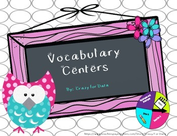 Vocabulary Centers