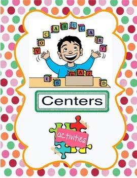Vocabulary Centers Activities