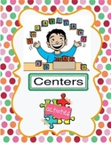 Vocabulary Centers Activities