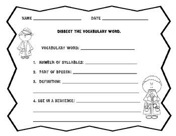 Vocabulary Center Activities