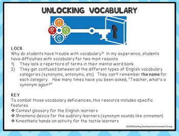Vocabulary Centers Bundle