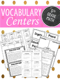 Vocabulary Centers: Fifth Grade Math