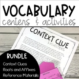 Vocabulary Centers and Activities Bundle