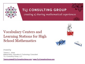 Vocabulary Centers and Learning Stations for HS Mathematics