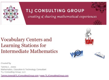 Vocabulary Centers and Learning Stations for Intermediate Mathematics