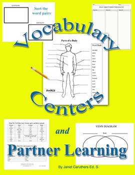 Vocabulary Centers and Partner Learning: Ideas, Activities & Forms