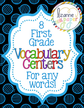 Vocabulary Centers for First Grade