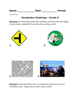 Vocabulary Challenge 8th Grade