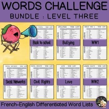 Vocabulary Challenge Bundle Level 3