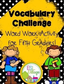 Vocabulary Challenge {Word Work for Fourth and Fifth Grade}