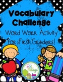 Vocabulary Challenge {Word Work for First Grade}