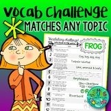 Vocabulary Challenge {Matches any topic/theme}