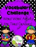 Vocabulary Challenge {Word Work for Third Grade}