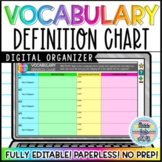 Vocabulary Chart Template: Google Drive Edition!