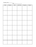 Vocabulary Chart based on Marzano's Six Steps