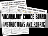 Vocabulary Choice Board
