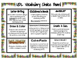 Vocabulary Choice Board: Universal Design for Learning; UDL Assessment!