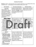 Vocabulary Choice Board- creative, rigorous activities for