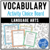 Vocabulary Choice Board for Any Subject or Word List